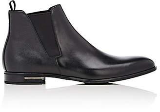 Prada Men's Plain-Toe Chelsea Boots - Black