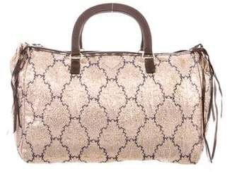 Prada Metallic Brocade Handle Bag