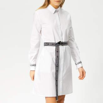 Karl Lagerfeld Women's Shirt Dress with Logo Belt