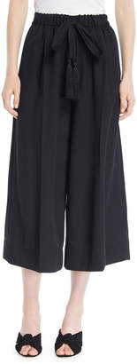 Forte Forte Wool Drawstring Wide-Leg Cropped Pants