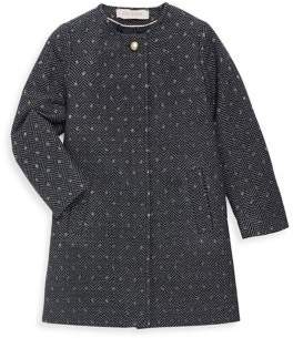 Lili Gaufrette Little Girl's Chevron Dots Coat
