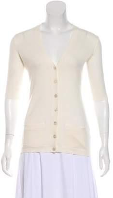 Ralph Lauren Black Label Short Sleeve Cashmere Cardigan