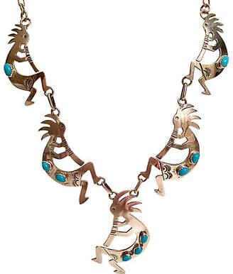 One Kings Lane Vintage Sterling & Turquoise Kopolleli Necklace - Jacki Mallick Designs