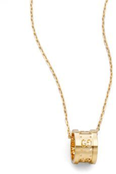 GucciGucci 18k Yellow Gold Small GG Barrel Necklace