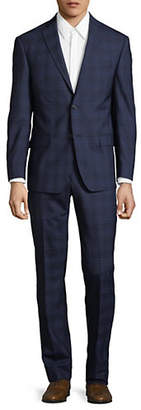 Michael Kors Checkered Slim-Fit Wool Suit