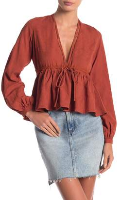Anama Tie Front Woven Top