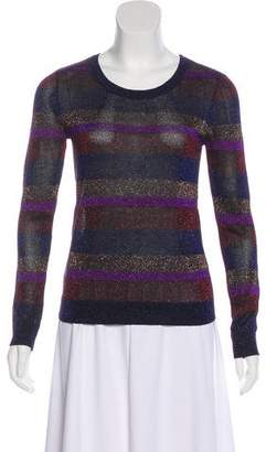 Marc by Marc Jacobs Electric Metallic Blue Multi Sweater