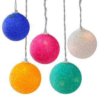 Northlight 6ct Twinkling Sphere Ball Party String Lights - White Wire