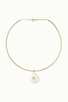 Cvc Stones 18-karat Gold, Stone And Diamond Choker