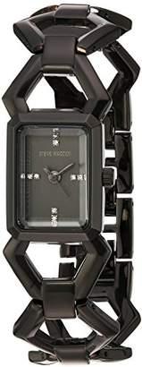 Steve Madden Women's SMW046BK Analog Display Japanese Quartz Watch