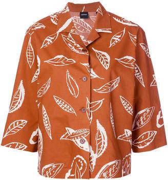 Aspesi leaf print shirt