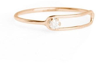 Women's Sarah & Sebastian Nimbus Diamond Oblong Ring $530 thestylecure.com