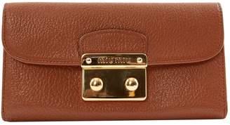 Miu Miu Camel Leather Wallets