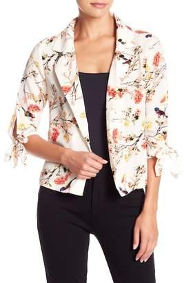 Aiden Tie Sleeve Floral Print Blazer
