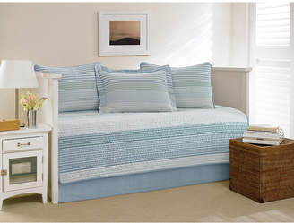 Nautica Banded Stripe Shimmering Sea Daybed Set Bedding