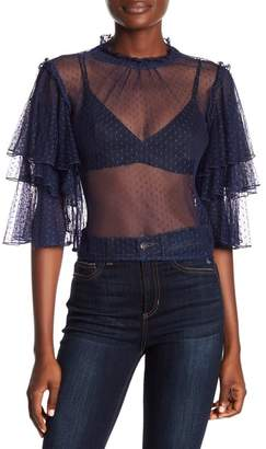 Romeo & Juliet Couture Embroidered Lace Blouse