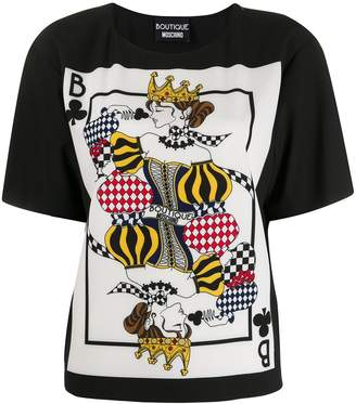 Moschino card print T-shirt