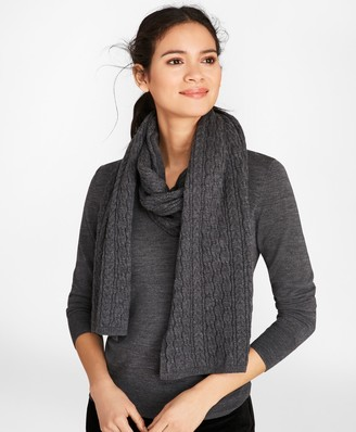 Brooks Brothers Cable-Knit Merino Wool Scarf