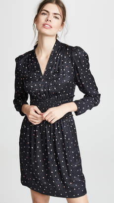 Rebecca Taylor Long Sleeve Paint Dot Dress