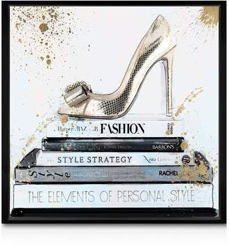 Oliver Gal Gold Shoe Wall Art, 10 x 10