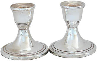 One Kings Lane Vintage Sterling Silver Candle Holders - Set of 2 - Rose Victoria