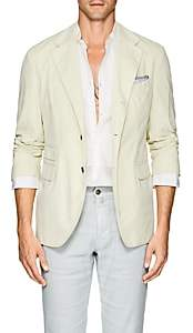 Massimo Alba Men's Cotton Corduroy Three-Button Sportcoat-Cream