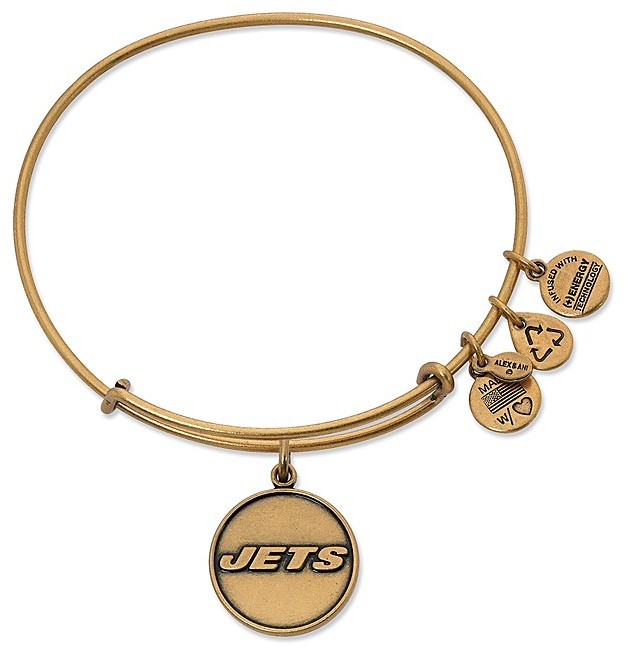 Alex and Ani New York Jets Logo Expandable Wire Bangle