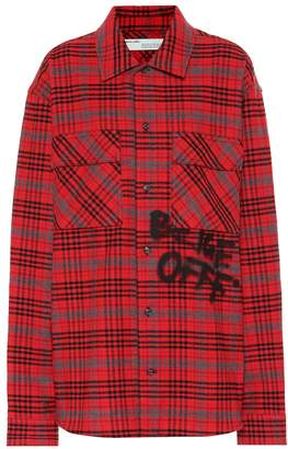 Off-White Off White Check cotton-blend shirt