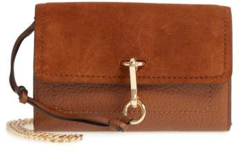 Vince Camuto Blena Leather & Suede Clutch - Brown