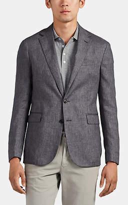 Ralph Lauren Purple Label Men's Hadley Linen Two-Button Sportcoat - Gray