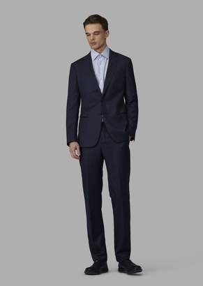 Giorgio Armani Slim-Fit Half-Canvas Twill Blend Soho Suit
