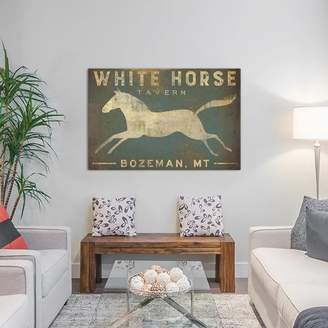 White Horse East Urban Home Tavern Textual Art on Wrapped Canvas