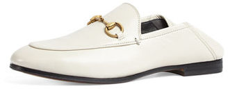 Gucci Brixton Leather Horsebit Loafer $630 thestylecure.com