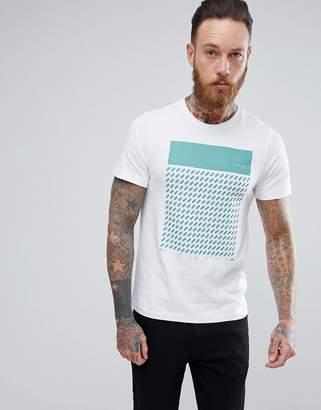 Farah Chestering Slim Fit Block Print T-Shirt in White