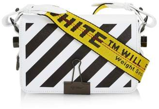 Off-White Off White Mini Diag Leather Flap Bag