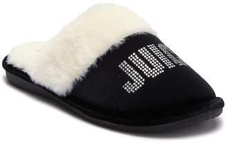 Juicy Couture Gabi Crystal Faux Fur Slipper (Women)