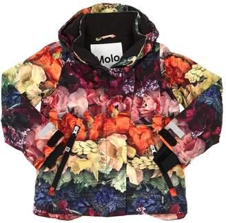 Molo Flowers Print Nylon Ski Down Jacket