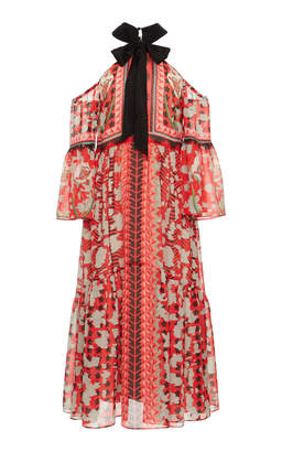Temperley London Odyssey Off-The-Shoulder Dress