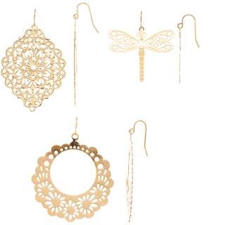 Mudd Gold Filigree & Dragonfly Earring Set