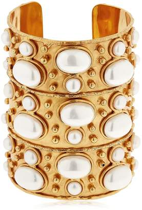 Manchette Byzance Pearl Cuff Bracelet