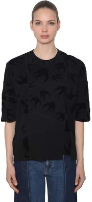 McQ Over Swallows Patchwork Jersey T-Shirt