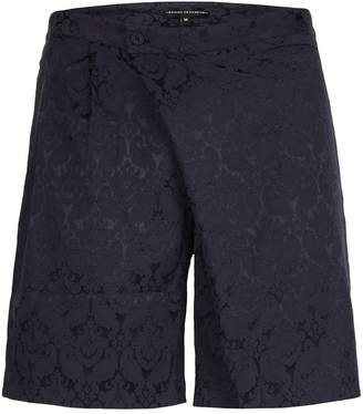 Topman ROGUES OF LONDON'S Navy Patterned Tailored Shorts