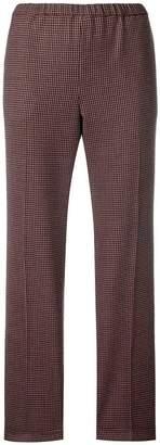 Alberto Biani cropped check trousers