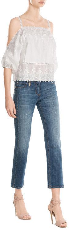 Roberto CavalliRoberto Cavalli Straight Jeans with Contrast Stitching