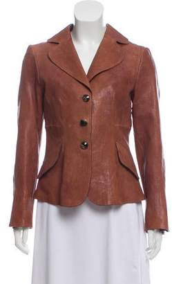 Giorgio Armani Textured Leather Jacket