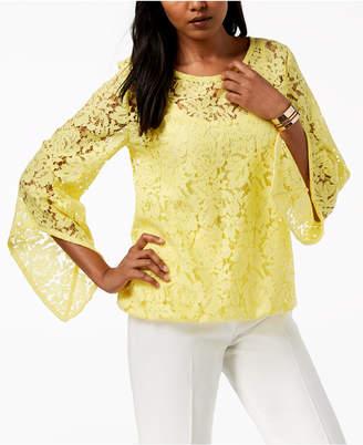 Alfani Lace Blouson Top, Created for Macy's