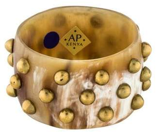 Ashley Pittman Studded Horn Bangle