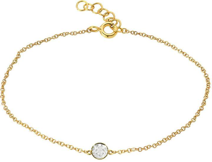 Etsy Bezel diamond anklet, 14k gold