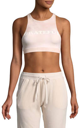Spiritual Gangster Grateful Racerback Crop Top Bra