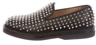 Christian Louboutin Fred Au 14 Flat Spike Sneakers